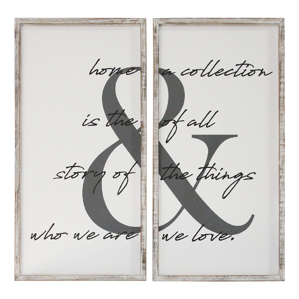 2 Pc Home is the Story Wall Art - Stratton Home Decor S23825