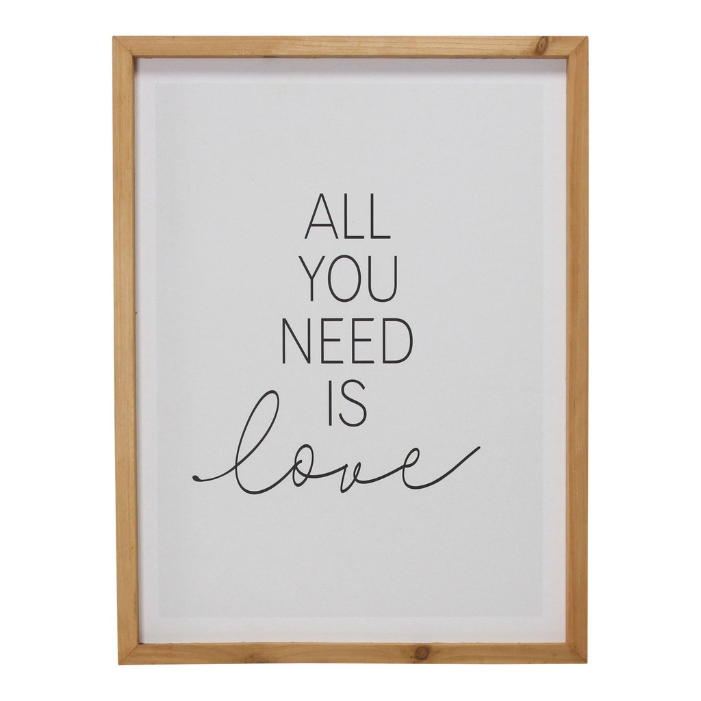 All You Need is Love Framed Wall Art - Stratton Home Decor S30906