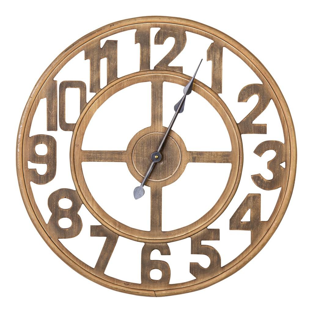 23 Inch Jen Wood Wall Clock - Stratton Home Decor S33484