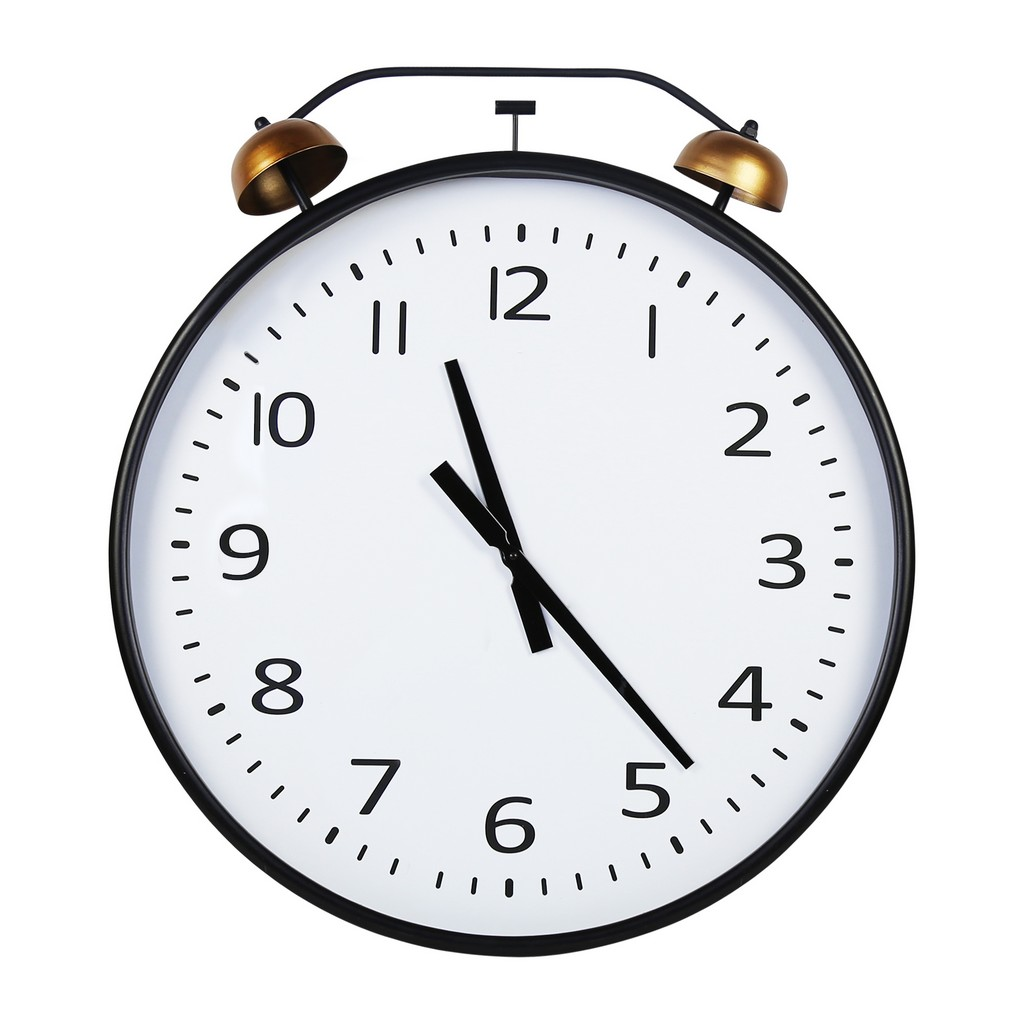 24 Inch Twin Bells Wall Clock - Stratton Home Decor S33493