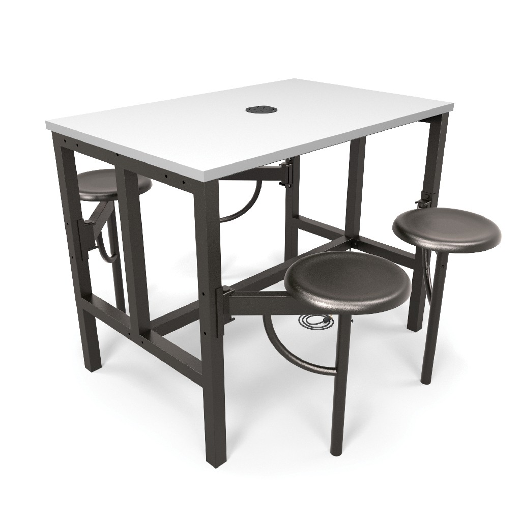 Ofm Endure Model Standing Height Seat Table White Dry Erase
