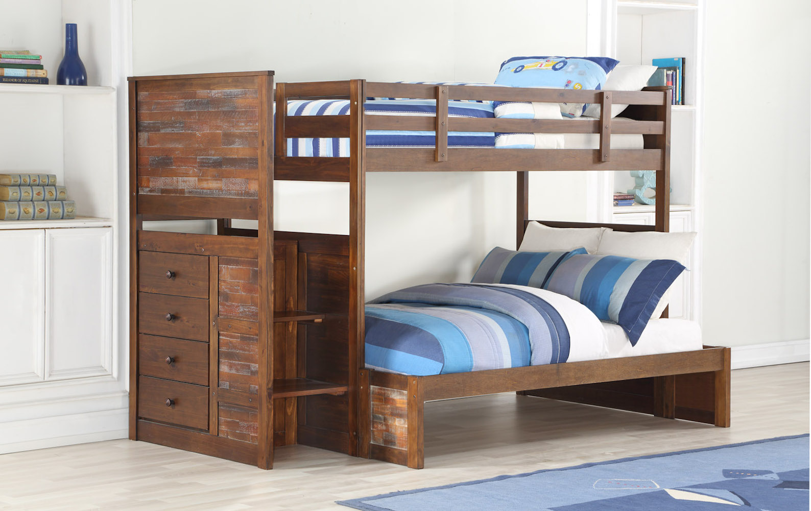 Donco Kids Furniture Twin Stairway Bunkbed Photo