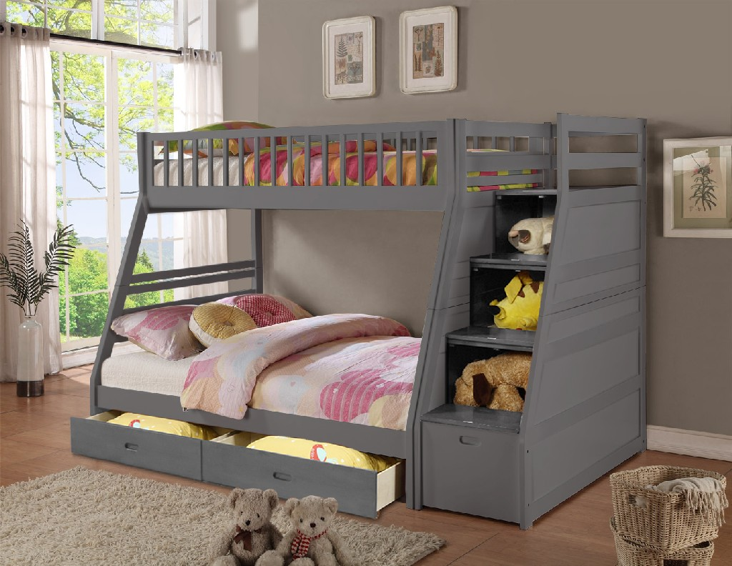 Light Blue Twin Bunkbed
