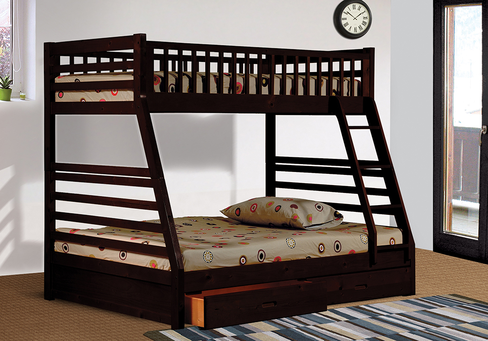 Boise Oak Twin Bunk Bed Storage