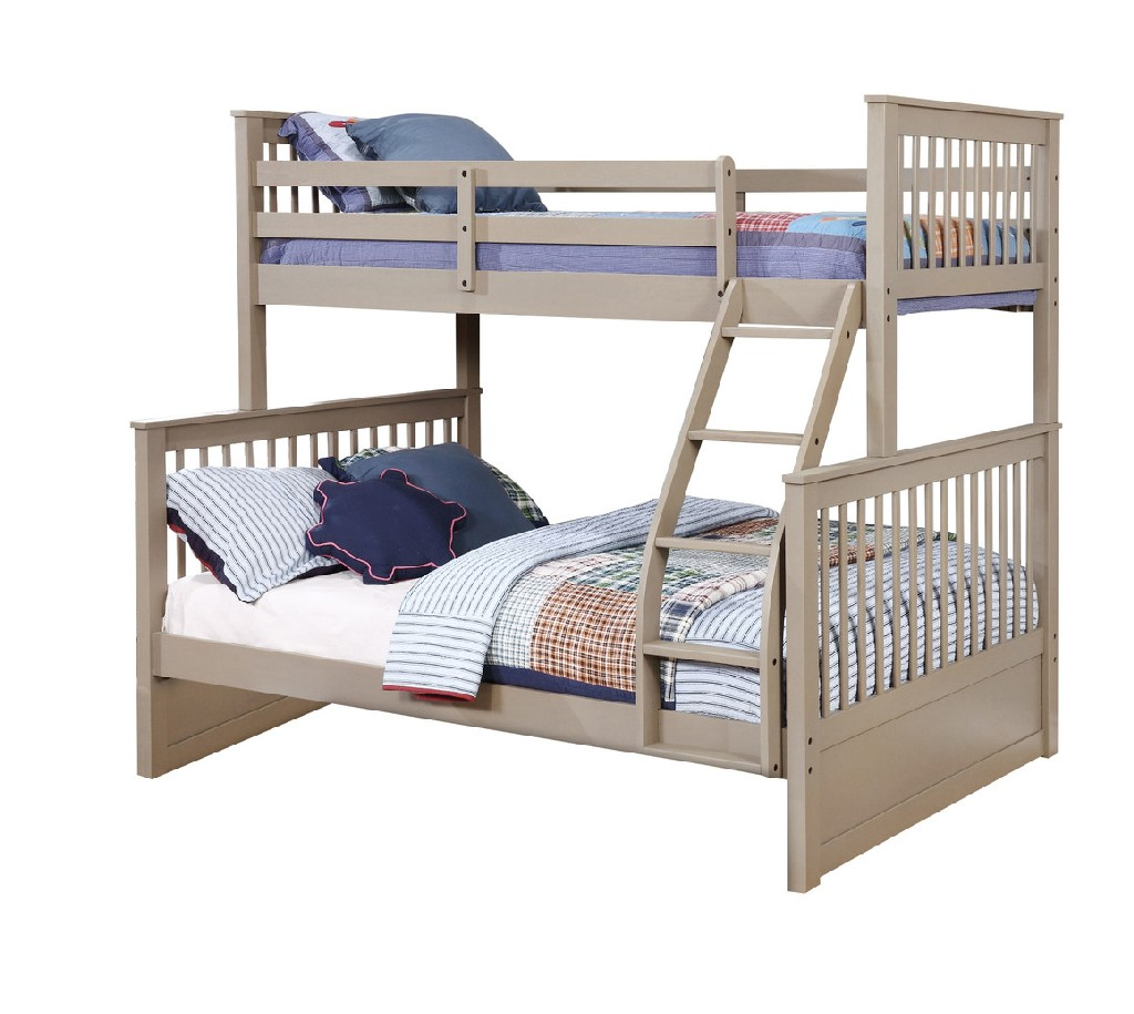 Myco Rockwell Espresso Twin Over Full Bunk Bed Storage