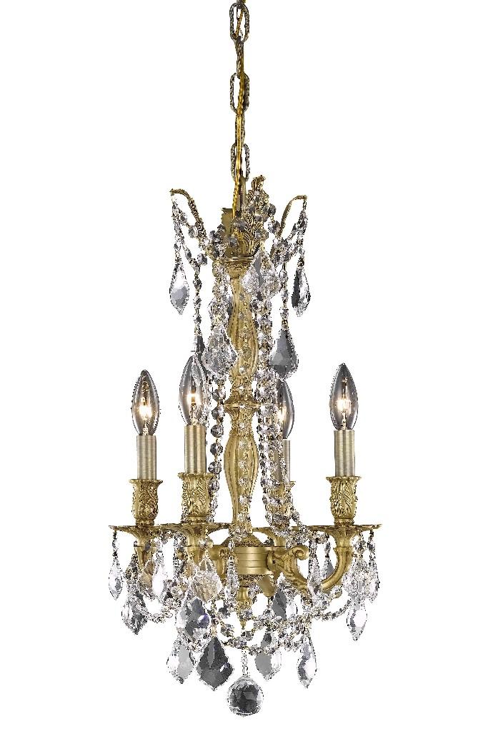 Elegant Lighting Light French Gold Pendant Clear Royal Cut Crystal