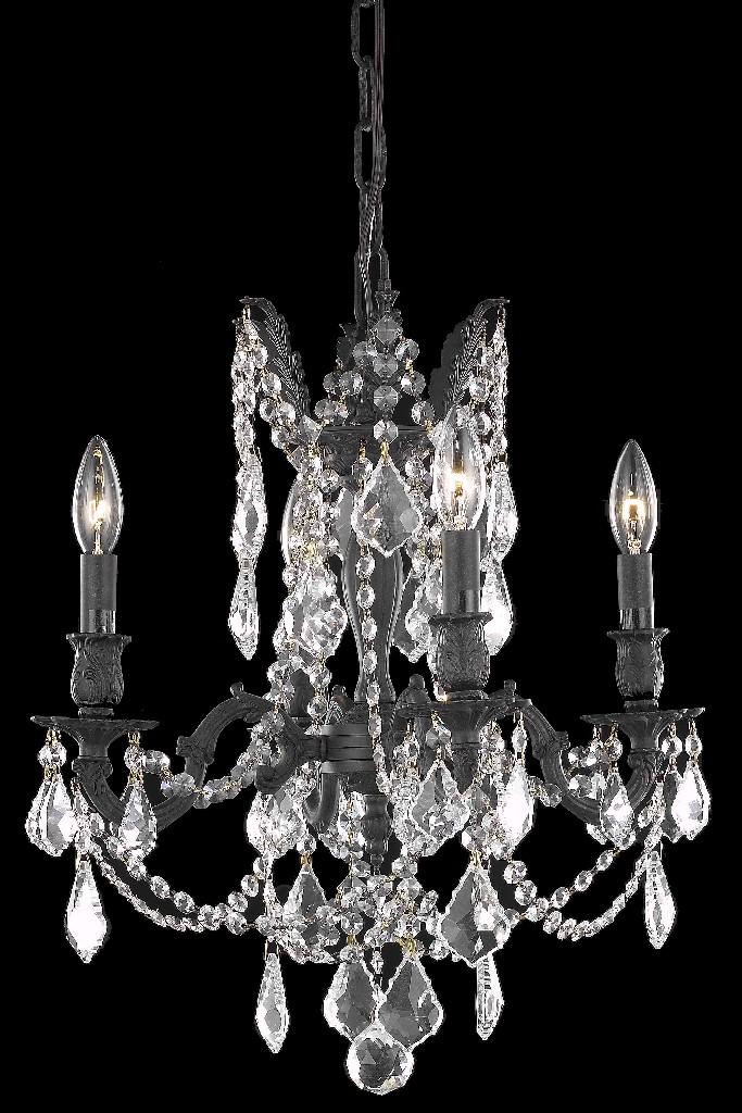 Elegant Lighting Light Dark Bronze Pendant Golden Teak Smoky Royal Cut Crystal