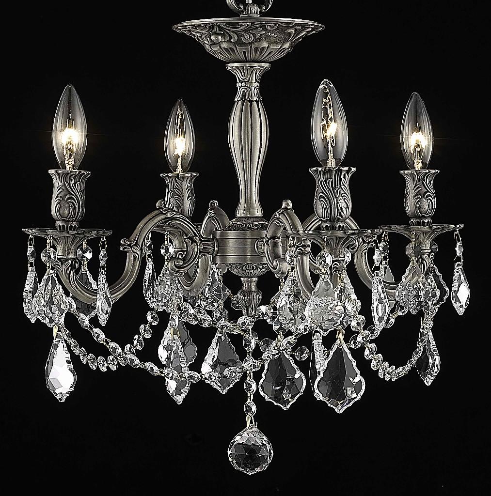 Elegant Lighting Light Flush Mount Clear Spectra Swarovski Crystal