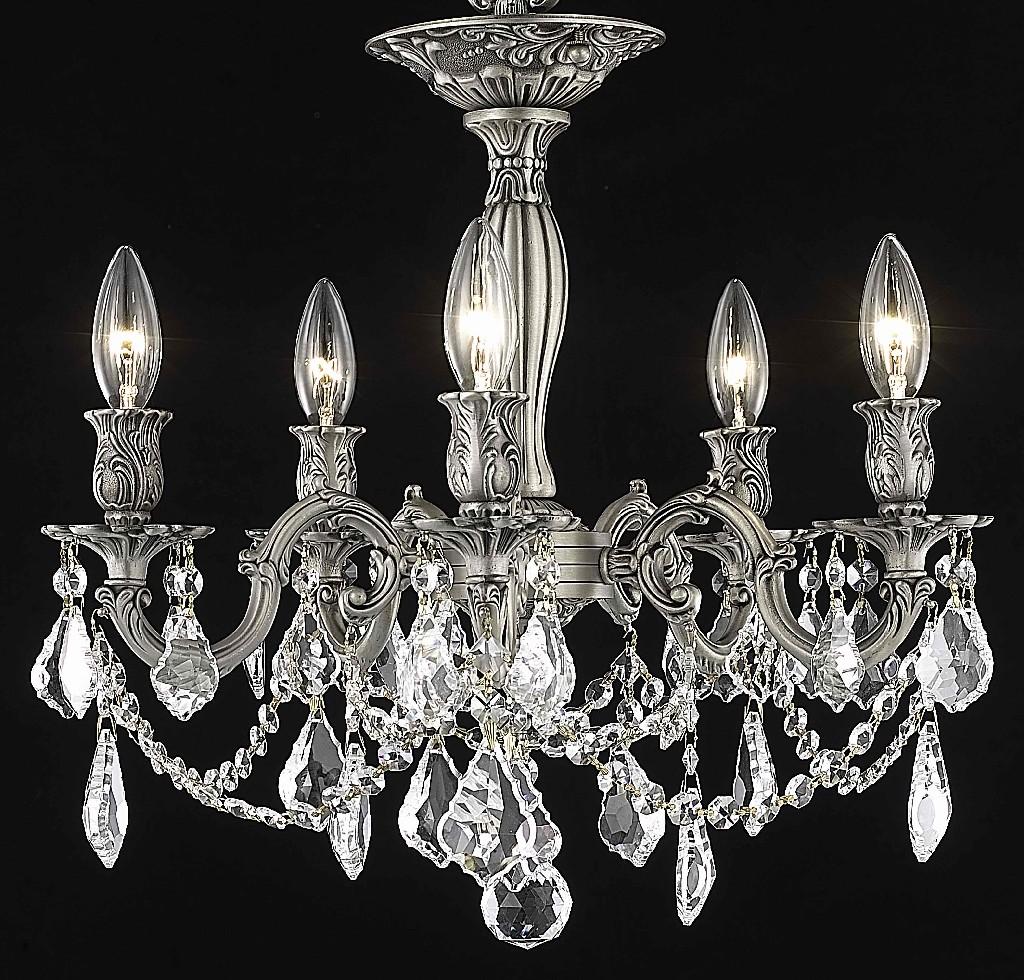 Elegant Lighting Light Flush Mount Clear Royal Cut Crystal