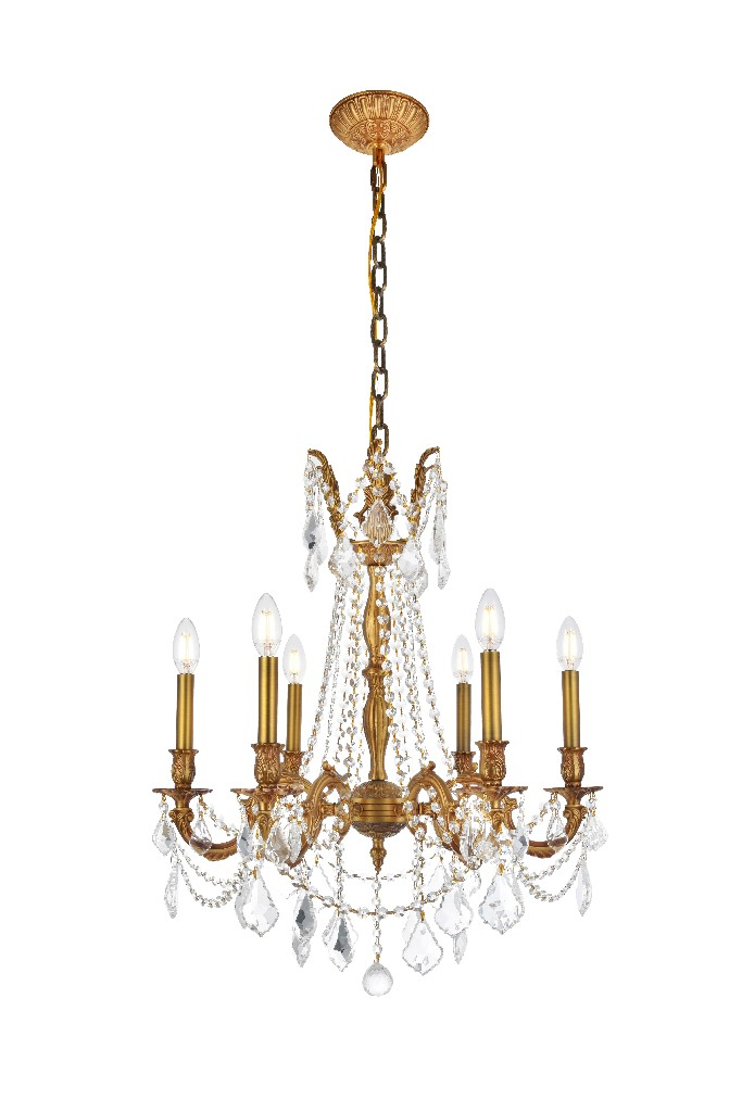Elegant Lighting Light French Gold Chandelier Clear Elements Crystal