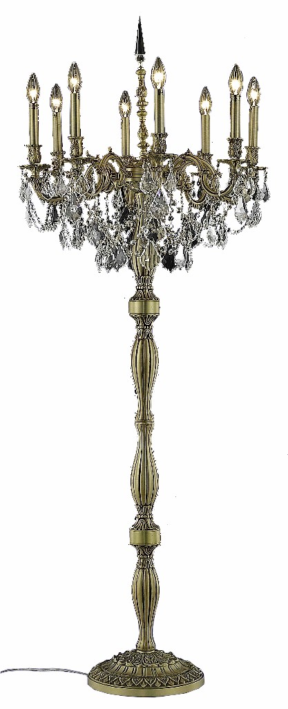Elegant Lighting Light French Gold Floor Lamp Clear Royal Cut Crystal
