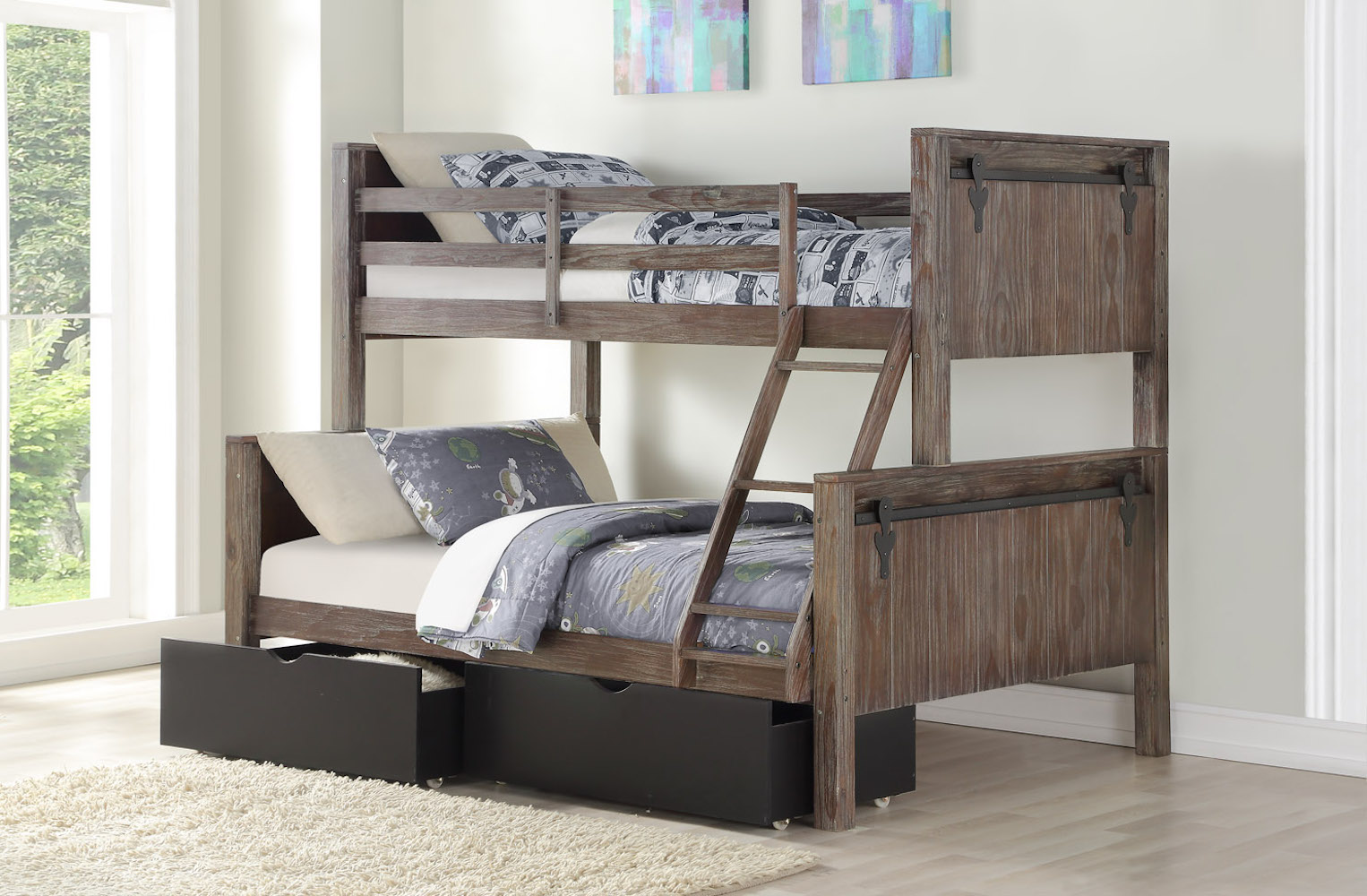 Donco Kids Twin Door Bunkbed