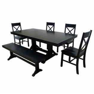 Walker Edison Furniture Wood Dining Set Photo