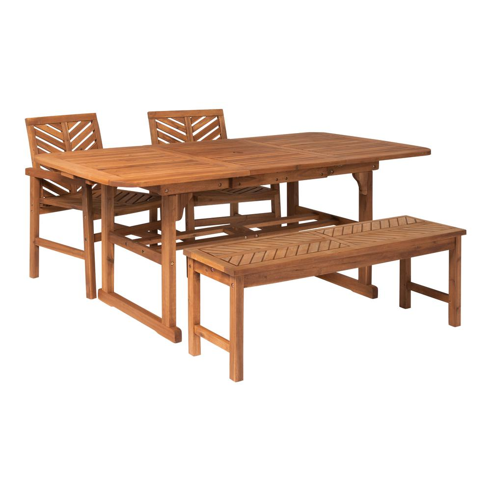 Walker Edison Extendable Outdoor Patio Dining Set