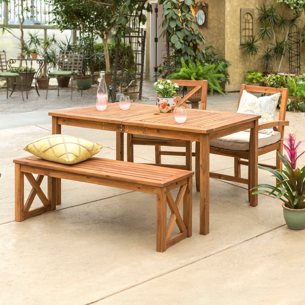 Walker Edison Dining Set Patio