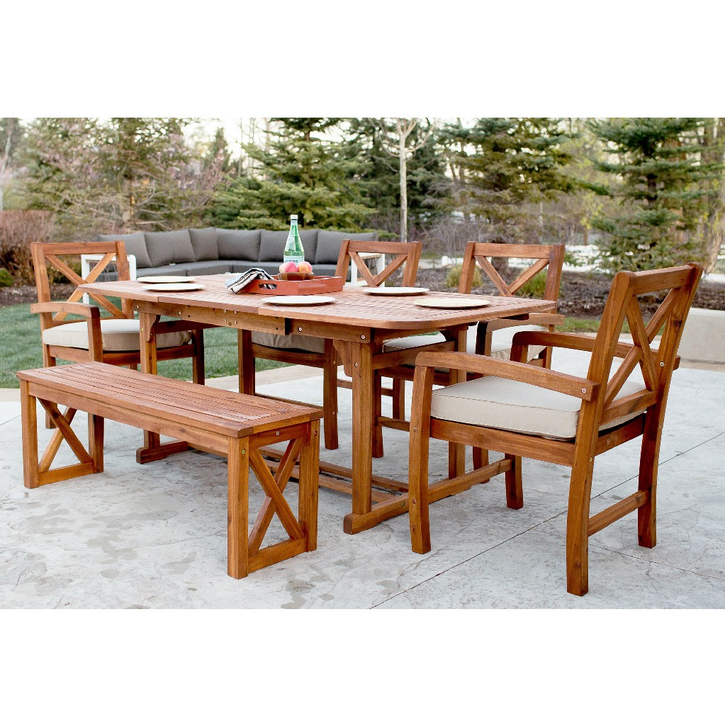 Wood Patio Dining Set Cushions