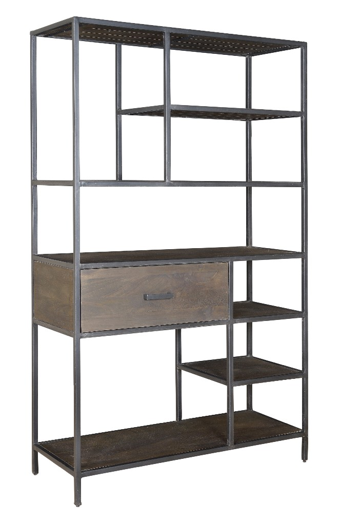 Coast To Coast One Drawer Bookcase Ancia Smoke