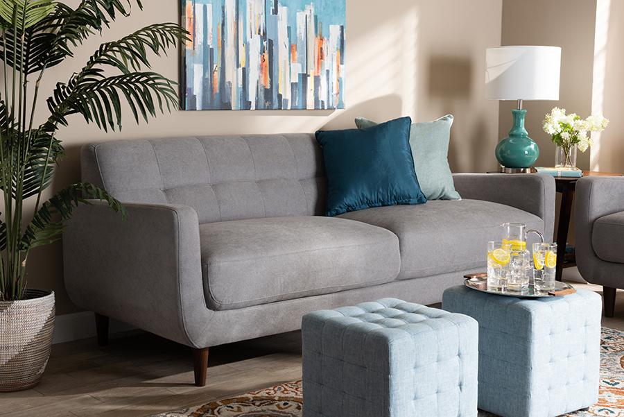 Light Fabric Upholstered Sofa