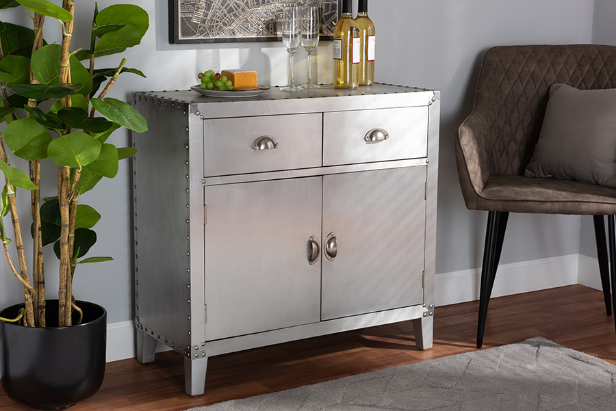 Wholesale | Cabinet | Storage | French | Accent | Silver | Metal