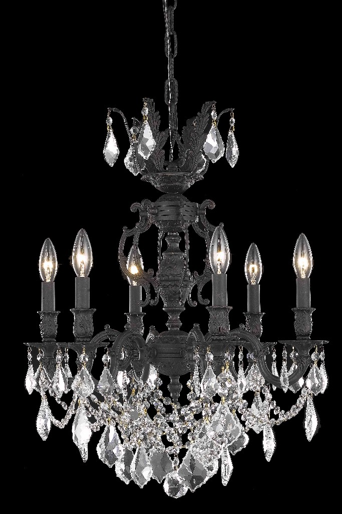 Elegant Lighting Light Dark Bronze Chandelier Clear Elements Crystal