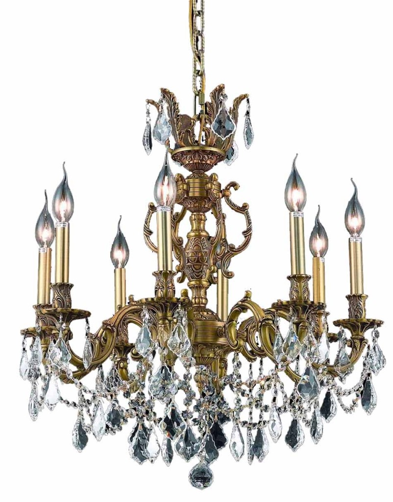 Elegant Lighting Light French Gold Chandelier Clear Spectra Swarovski Crystal