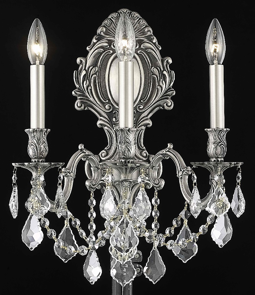 Elegant Lighting Light Wall Sconce Clear Elegant Cut Crystal