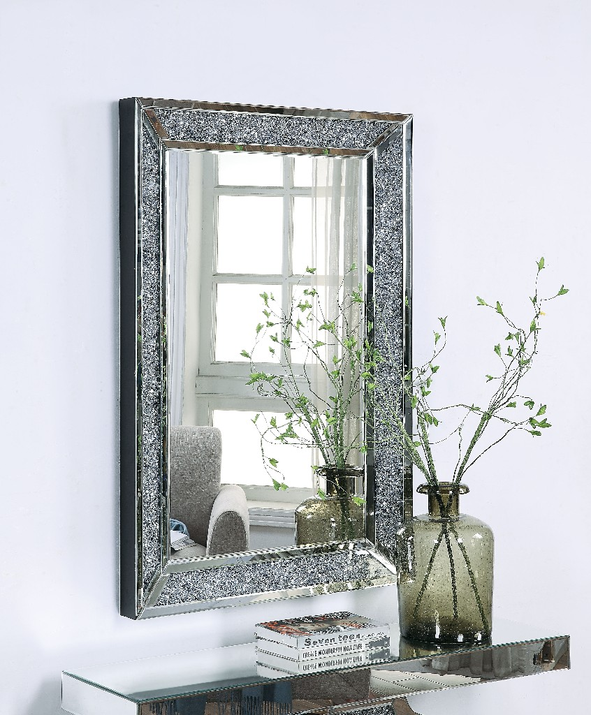 Furniture   Diamond   Mirror   Decor   Faux   Wall