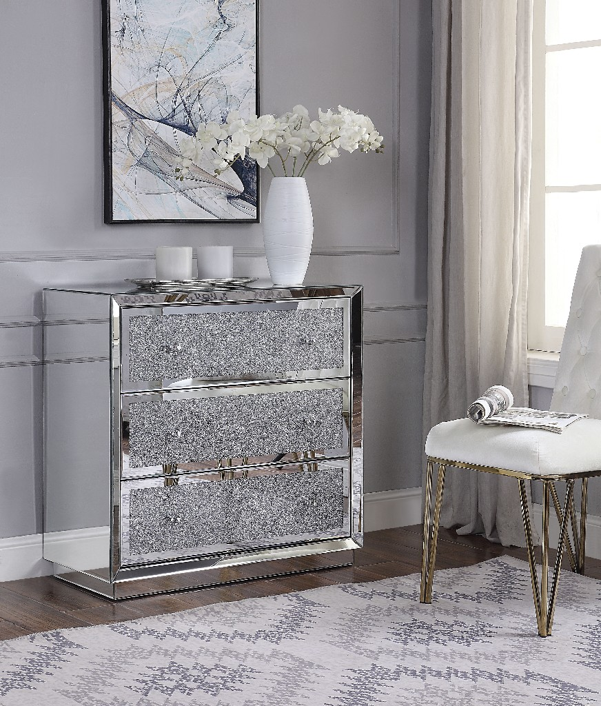 Acme Rekha Console Table Mirrored
