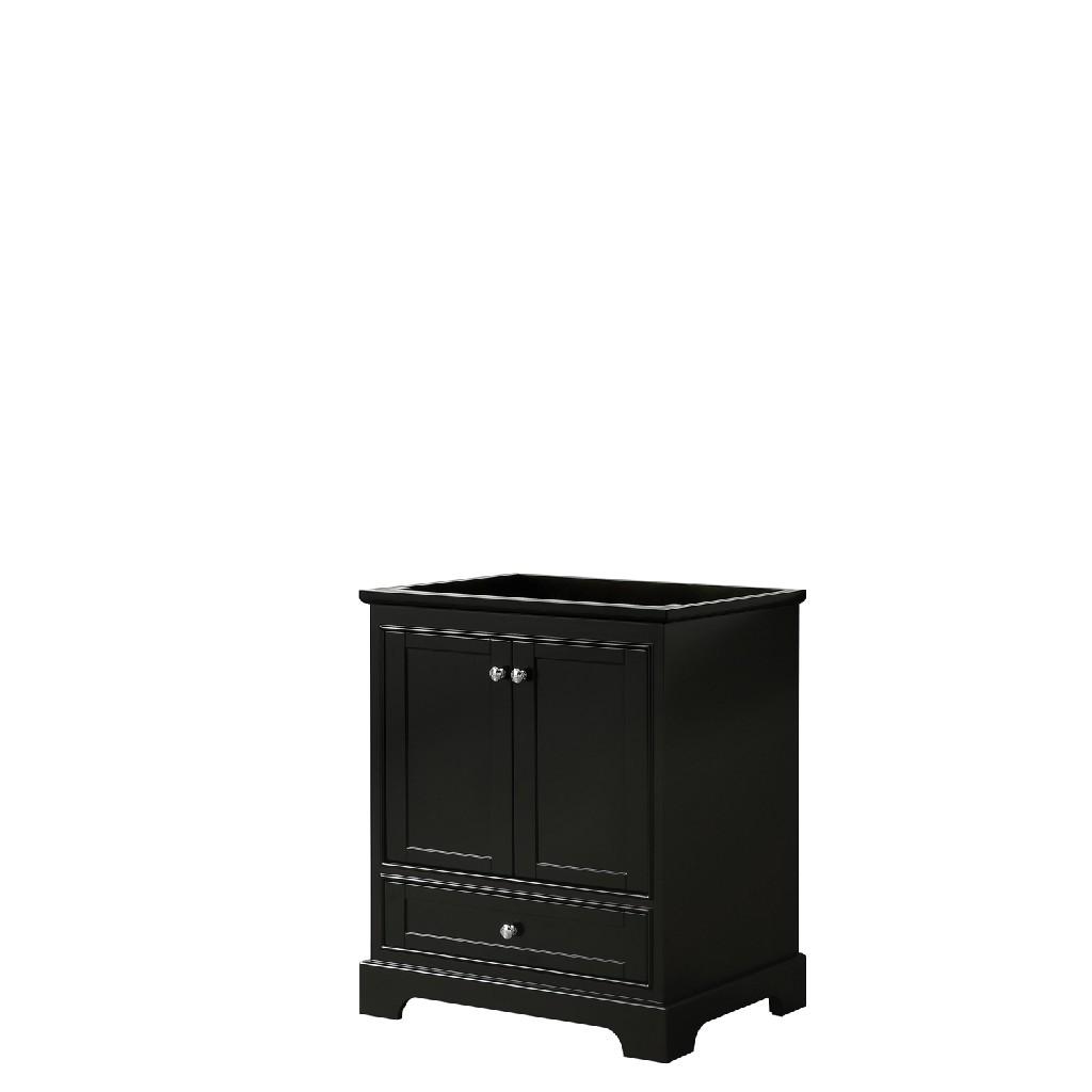 30 Inch Single Bathroom Vanity in Dark Espresso, No Countertop, No Sink, and No Mirror - Wyndham WCS202030SDECXSXXMXX
