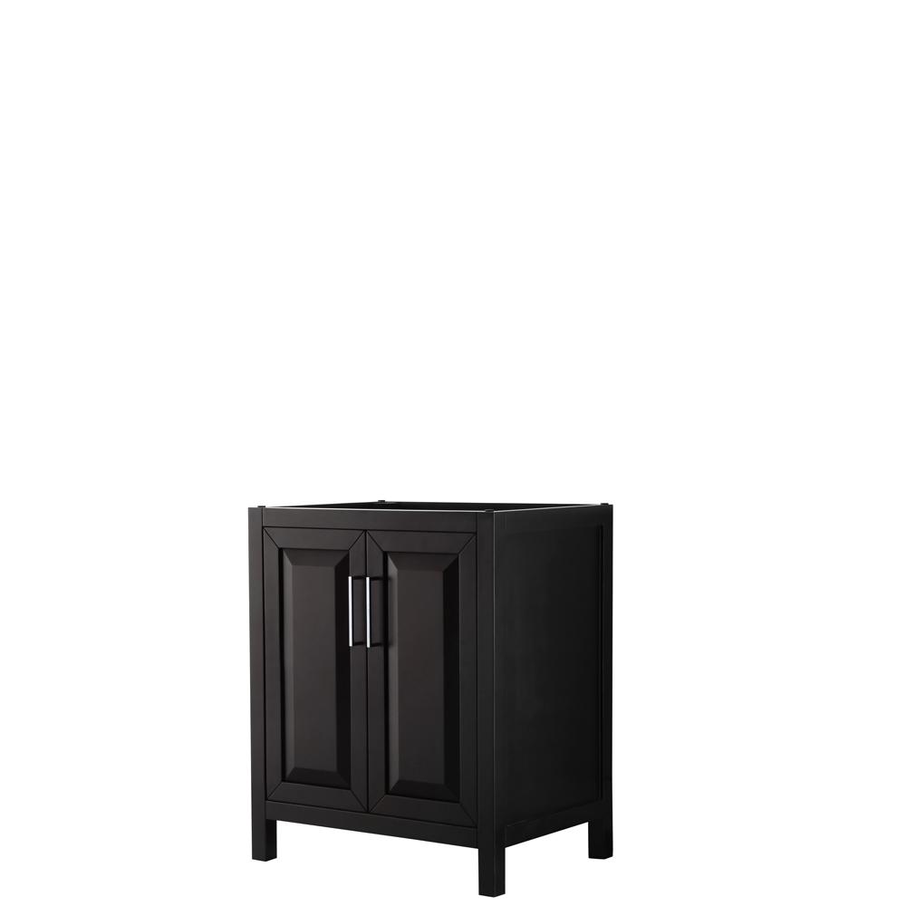30 inch Single Bathroom Vanity in Dark Espresso, No Countertop, No Sink, and No Mirror - Wyndham WCV252530SDECXSXXMXX