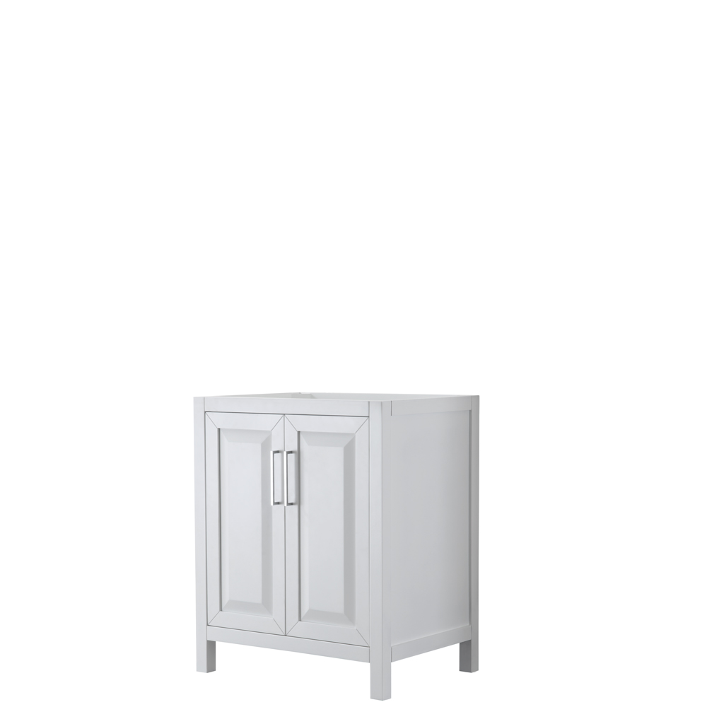 30 inch Single Bathroom Vanity in White, No Countertop, No Sink, and No Mirror - Wyndham WCV252530SWHCXSXXMXX