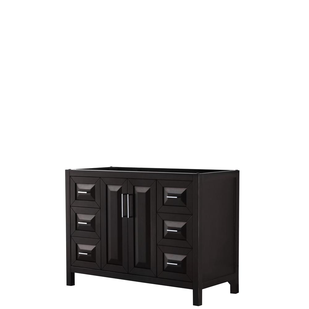 48 inch Single Bathroom Vanity in Dark Espresso, No Countertop, No Sink, and No Mirror - Wyndham WCV252548SDECXSXXMXX
