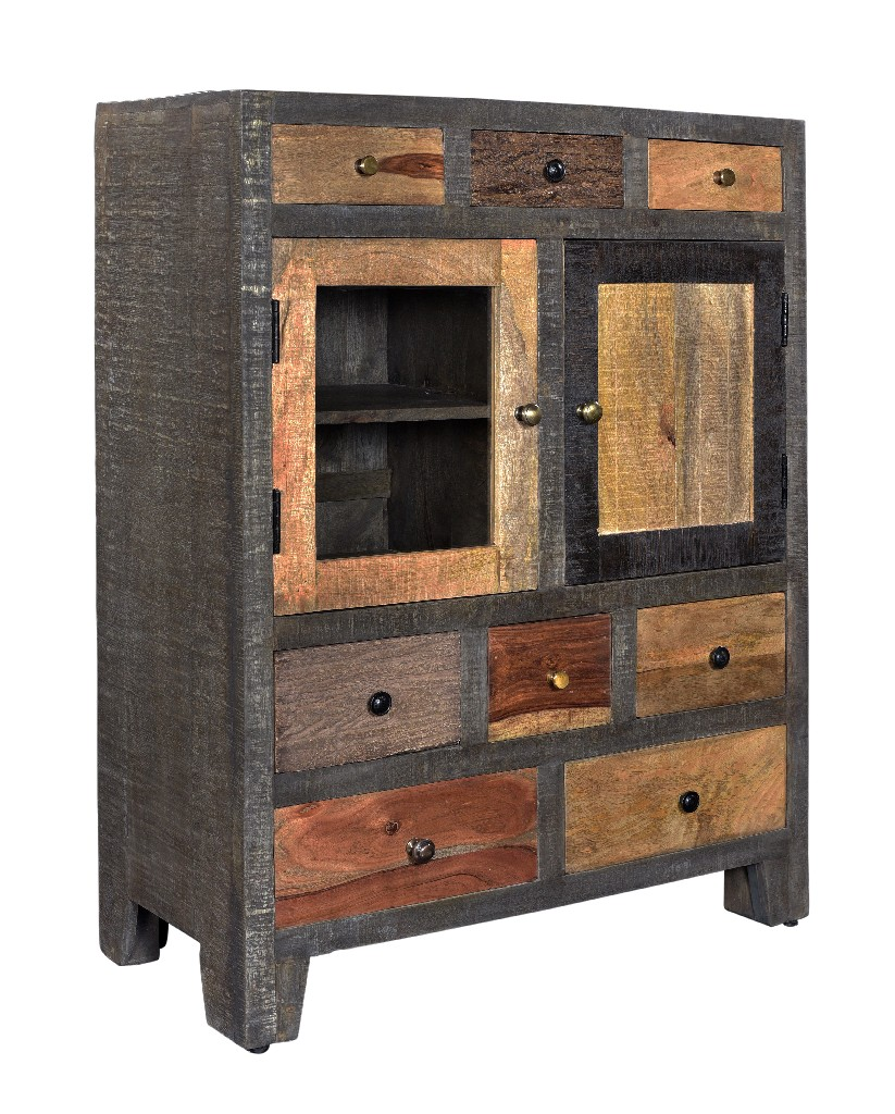 Coast To Coast Eight Drawer Two Door Cabinet Natural
