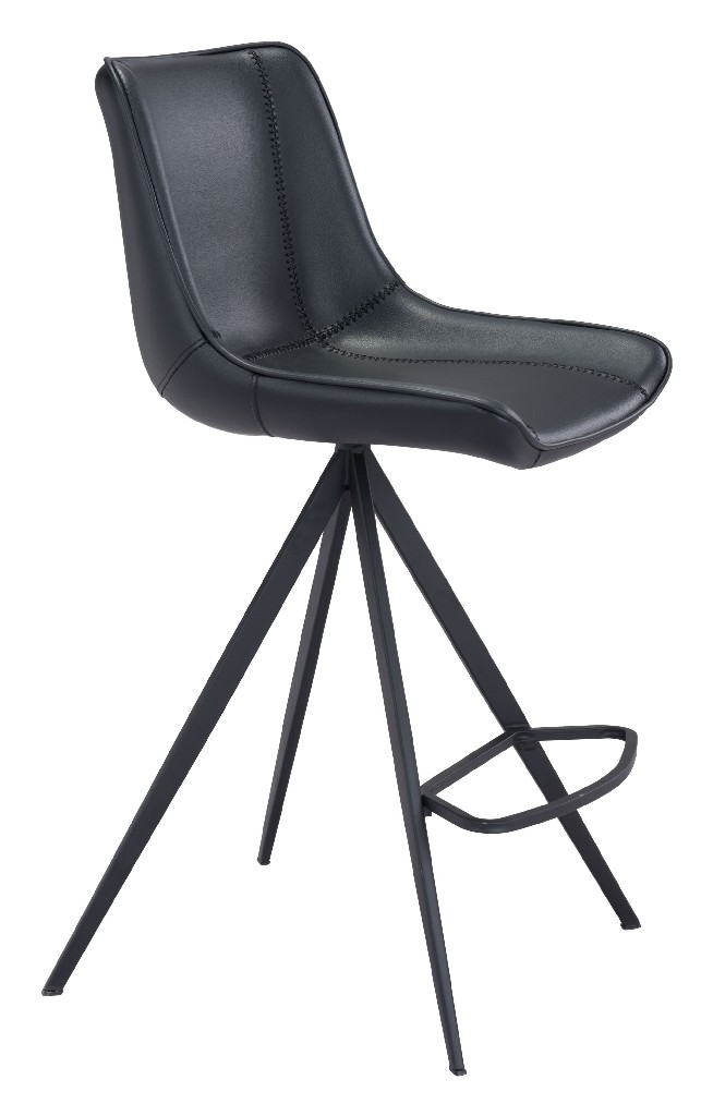 Aki Counter Chair Black (Set of 2) - Zuo 101394