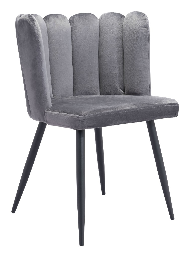 Adele Chair Gray (Set of 2) - Zuo 101524