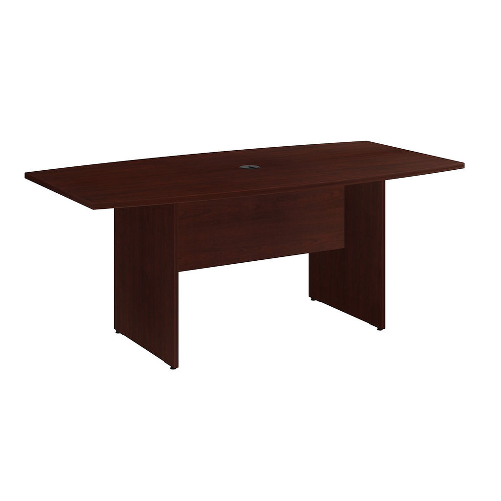"""Bush Business Furniture 99TB7236CS - 72""""L x 36""""W Boat Top Conference Table - Wood Base"""