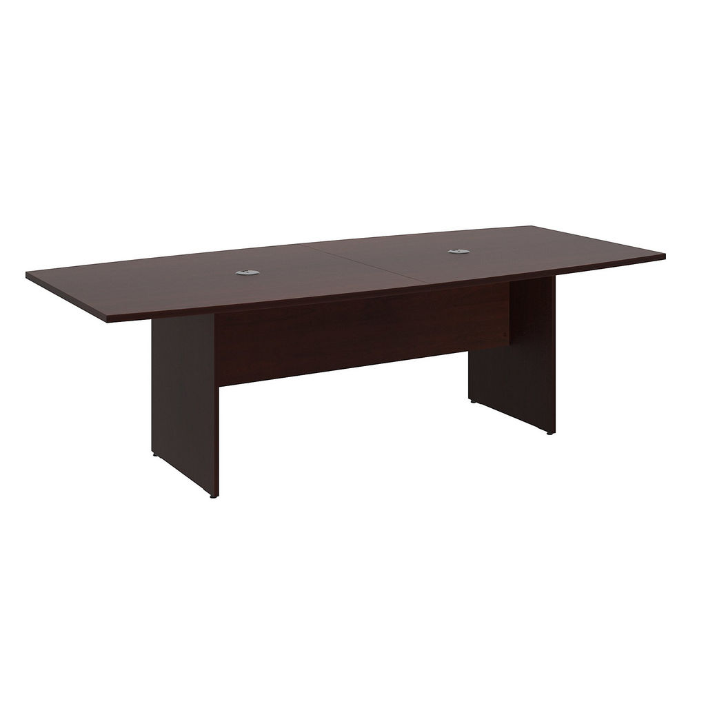"""Bush Business Furniture 99TB9642CSK - 96""""L x 42""""W Boat Top Conference Table - Wood Base in Harvest Cherry"""