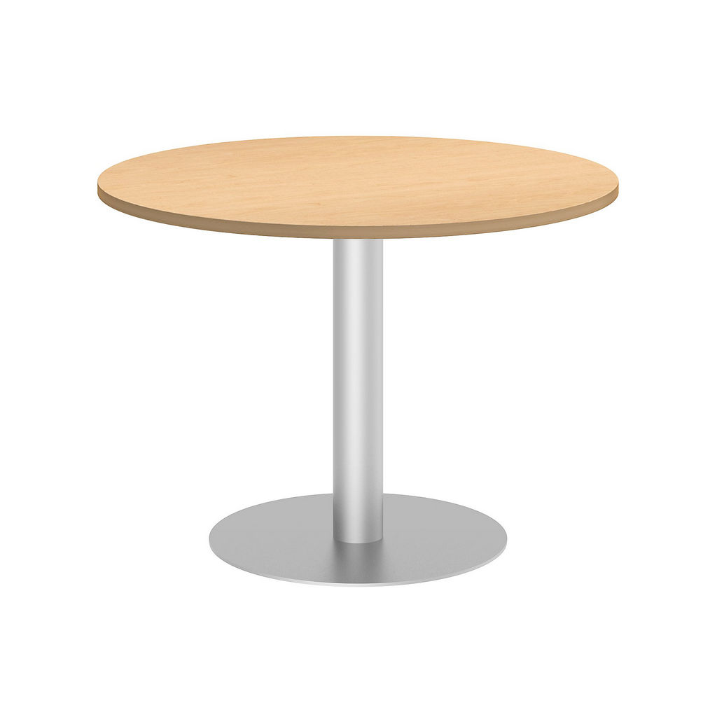 """Bush Business Furniture 99TBD42RACSVK - 42"""" Round Conference Table - Metal Disc Base in Natural Maple"""