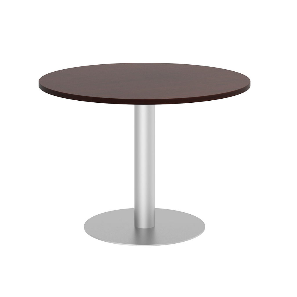 """Bush Business Furniture 99TBD42RCSSVK - 42"""" Round Conference Table - Metal Disc Base in Harvest Cherry"""