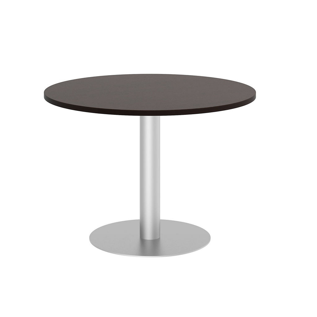"""Bush Business Furniture 99TBD42RMRSVK - 42"""" Round Conference Table - Metal Disc Base in Mocha Cherry"""