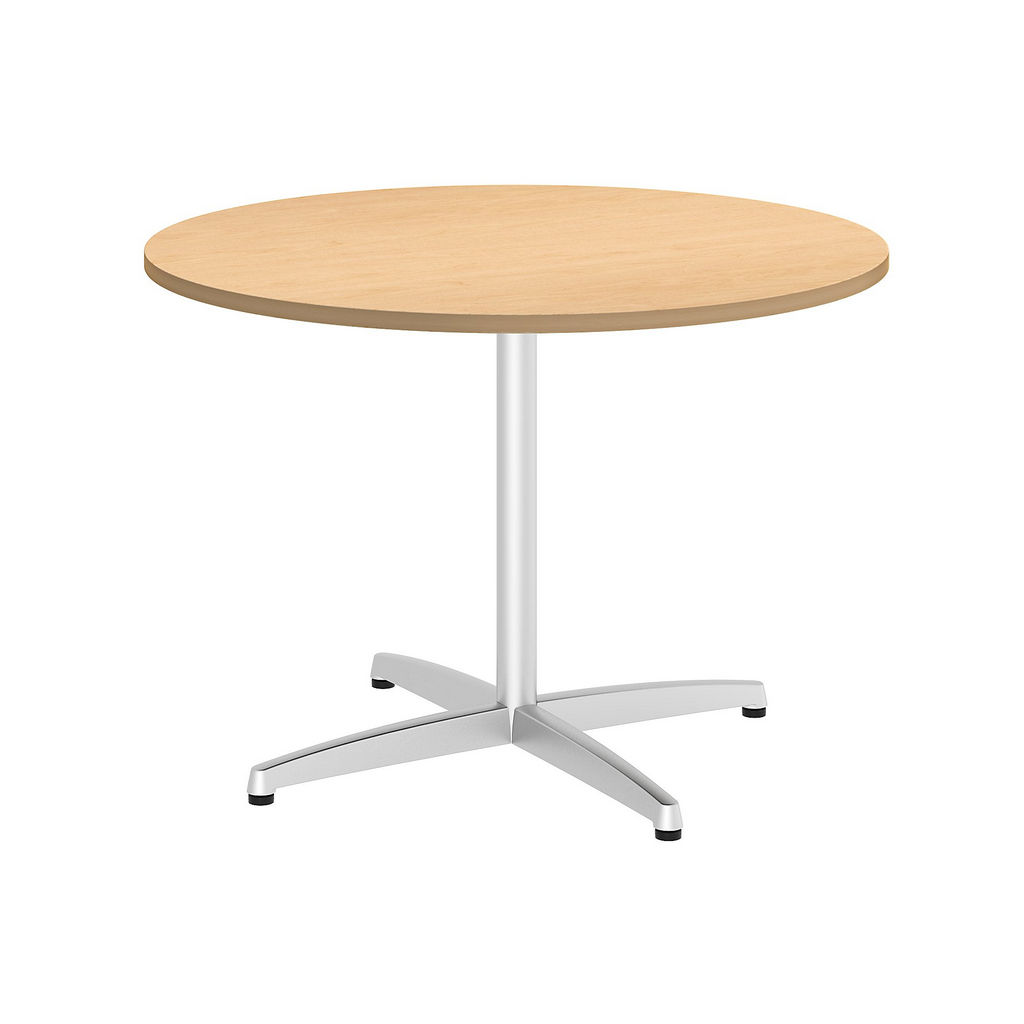 """Bush Business Furniture 99TBX42RACSVK - 42"""" Round Conference Table - Metal """"x"""" Base in Natural Maple"""
