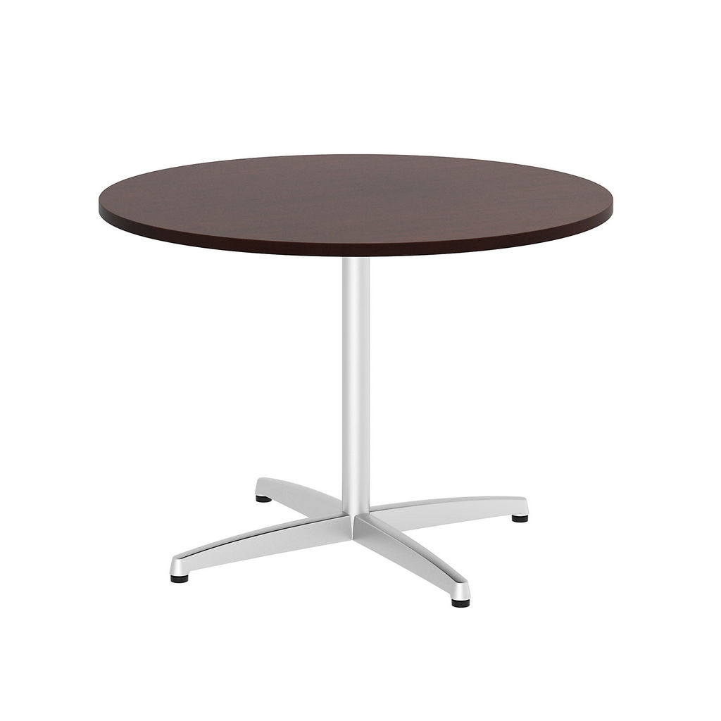 """Bush Business Furniture 99TBX42RCSSVK - 42"""" Round Conference Table - Metal """"x"""" Base in Harvest Cherry"""