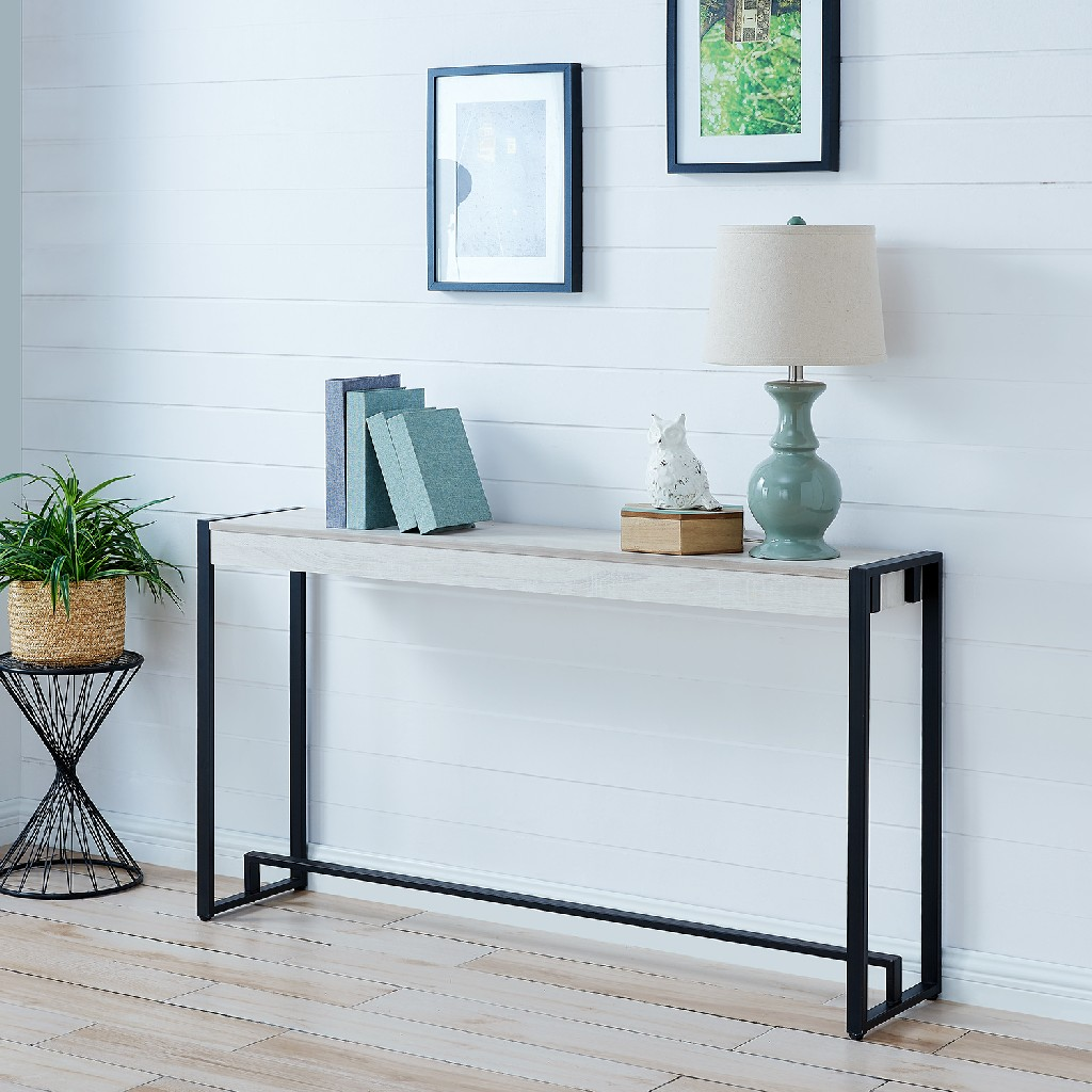 Macen Console - Black w/ Distressed White - Holly & Martin CM9915