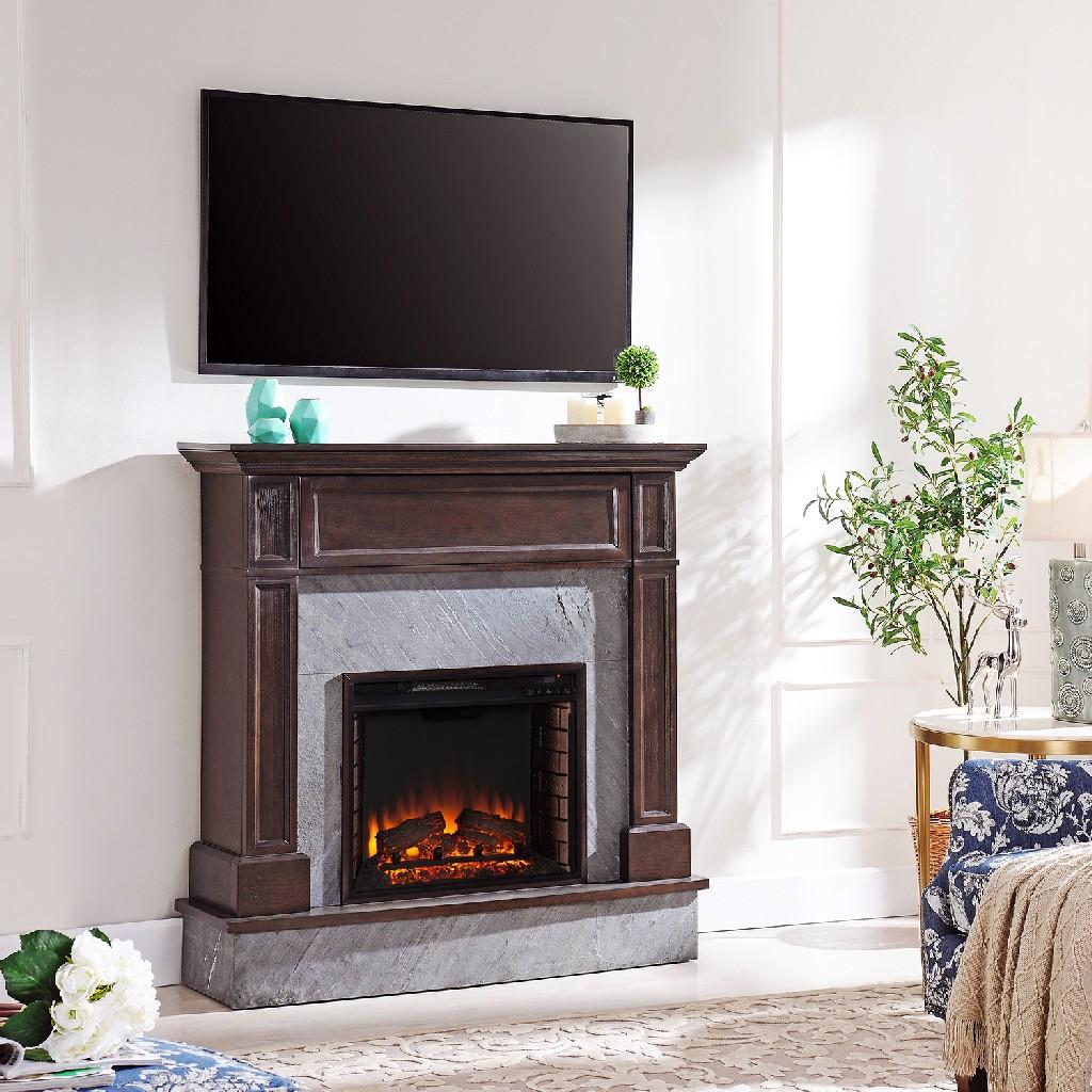 Southern Enterprise Holden Stone Media Fireplace