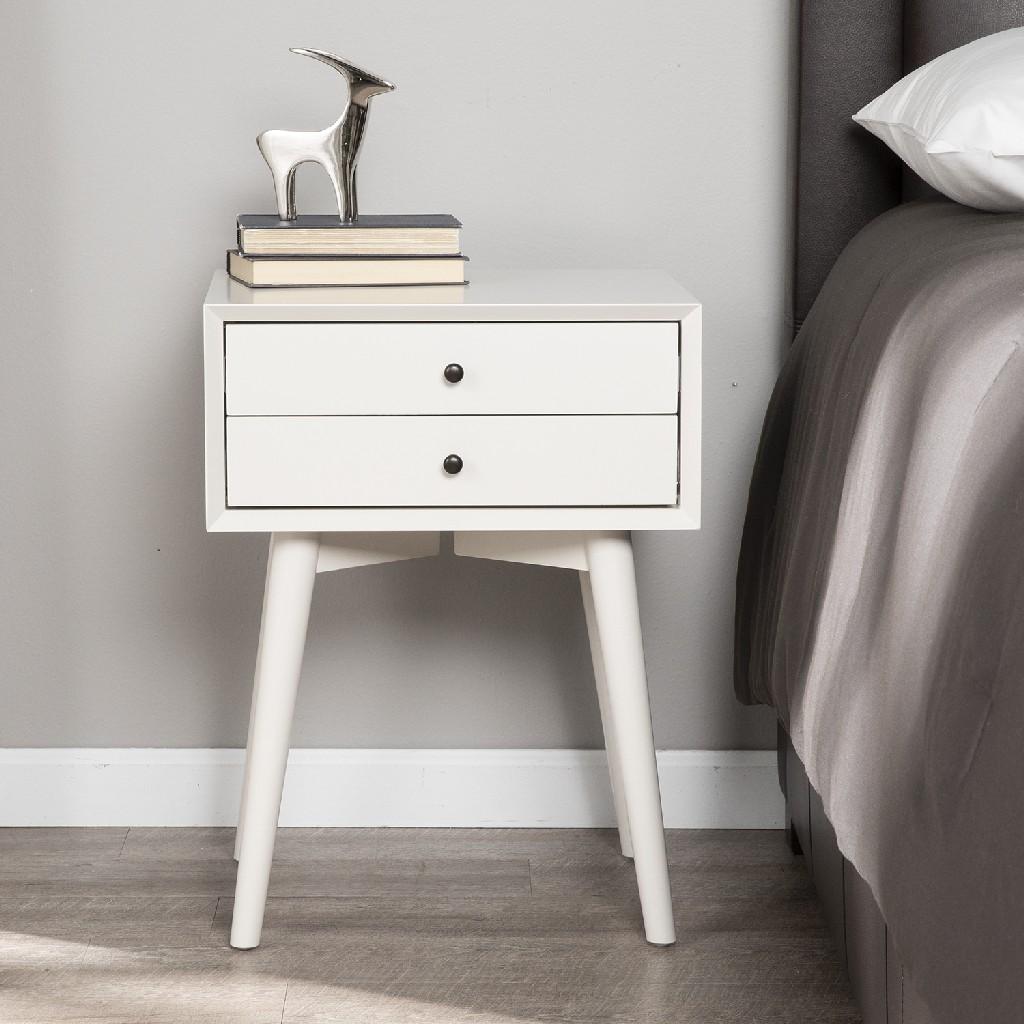 Alpine Bedside Table w/ Drawers - Southern Enterprises HF2877