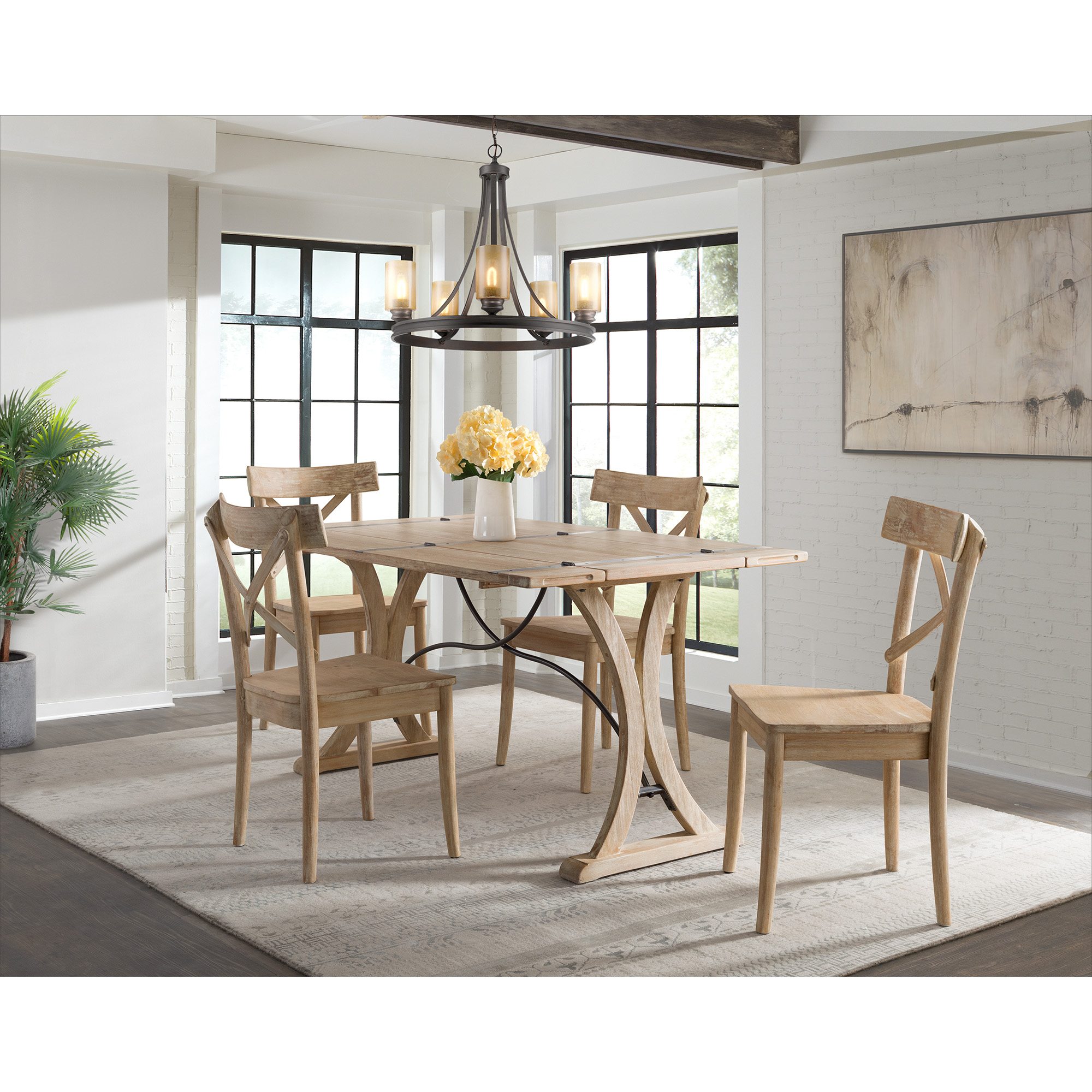 Picket House Folding Top Dining Set Table Chairs