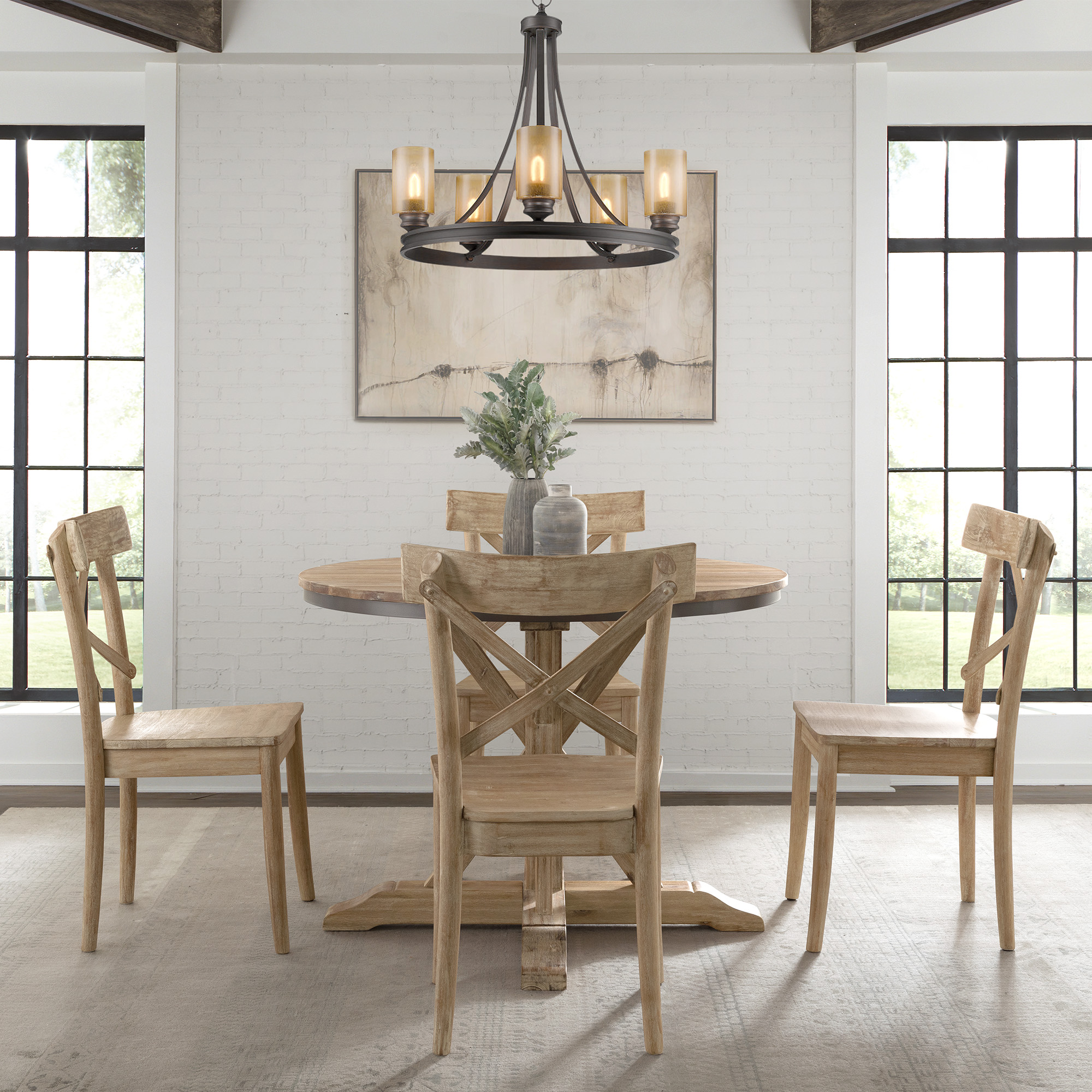 Picket House Dining Set Round Table Chairs
