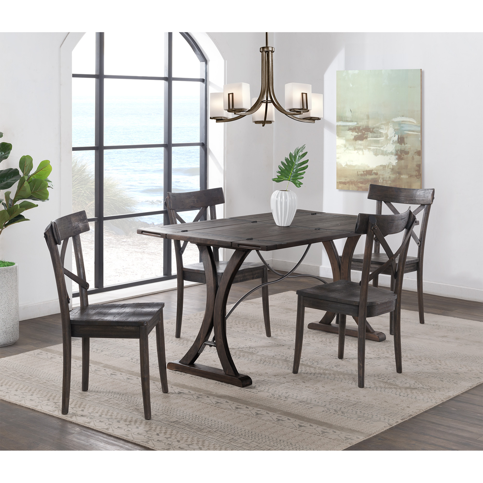 Picket House Furniture Folding Top Dining Set Table Chairs Photo