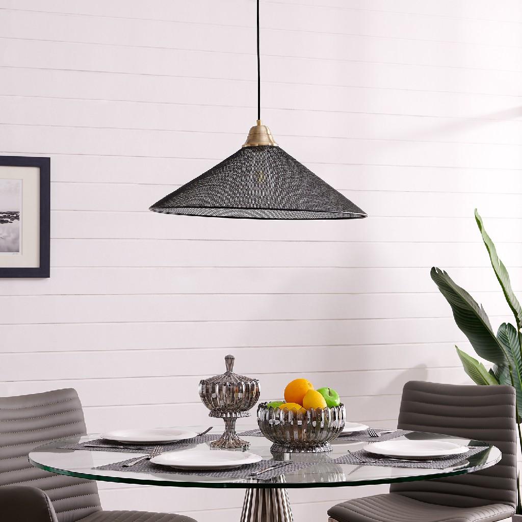Bachman Black Downlight Pendant Lamp - Southern Enterprises LT8213