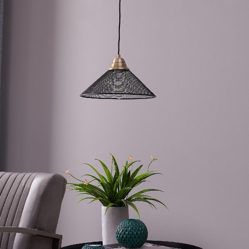 Bachman Black Downlight Mini Pendant Lamp - Southern Enterprises LT8215